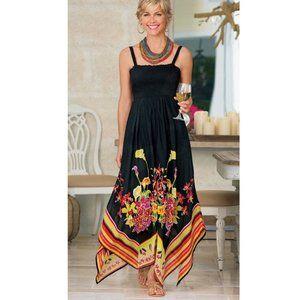 NWOT Soft Surroundings Riviera Maya Maxi Dress PL